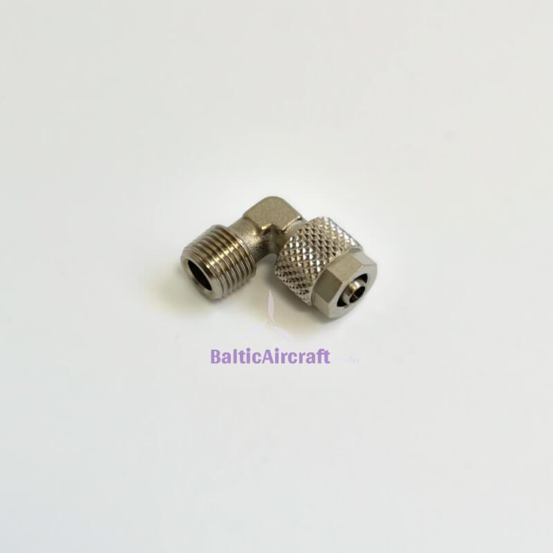 Stabdžių detalė - jungtis, 1/8 - 6 mm, 90°