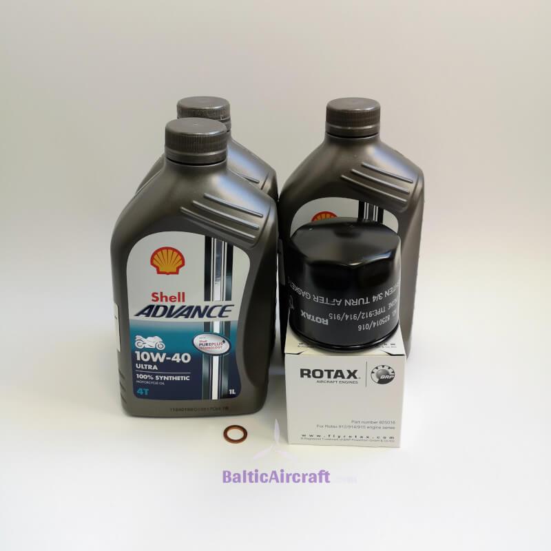 Shell Advance alyvos komplektas ROTAX 912ULS 100 AG 100 val.