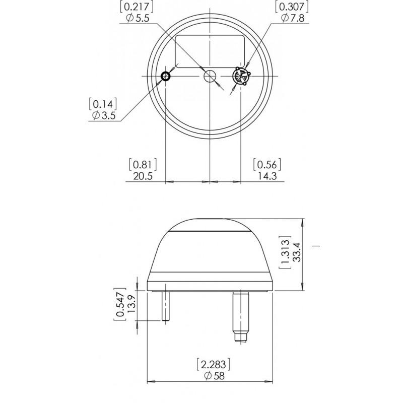 RedBaron Mini DayLite žibintas (anti-collision LED light - red or white)